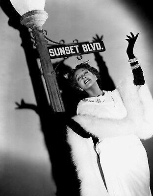 Gloria Swanson as Norma Desmond Sunset Boulevard 1950 movie star 8x10 photo