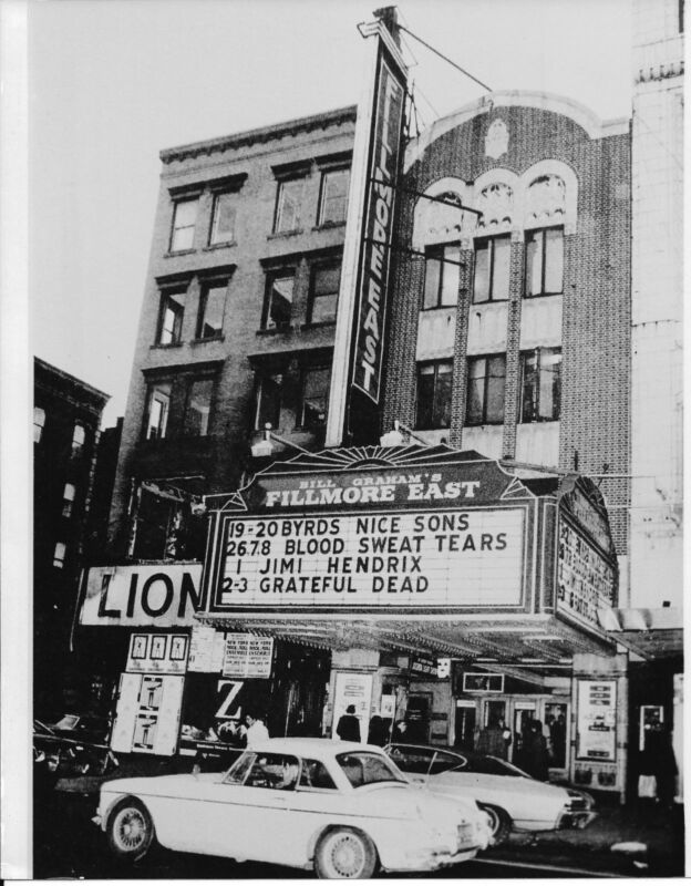 The Fillmore East Club Nyc 1969  8x10 Photo Print