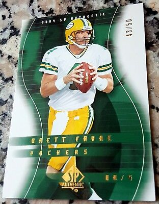 Used, BRETT FAVRE 2004 SP Authentic GOLD 43/50 RARE Packers Superbowl Ring $$ HOF $$ for sale  Morgan Hill