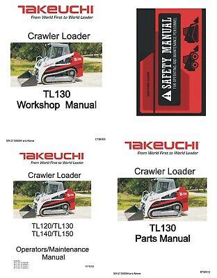 Takeuchi Tl130 Skid Steer Manual Set