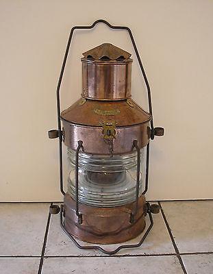 XXL Ankerlicht Kupfer mit Gravur Schiffslaterne Positionslampe Schiffslampe
