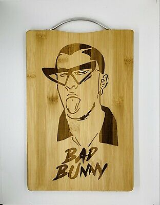 Bad bunny laser engraved high quality cuttingboard kitchen pop
