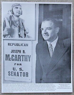 Rare Vintage 11x14 Photograph Joseph McCarthy 1946 After Winning G.O.P Primary