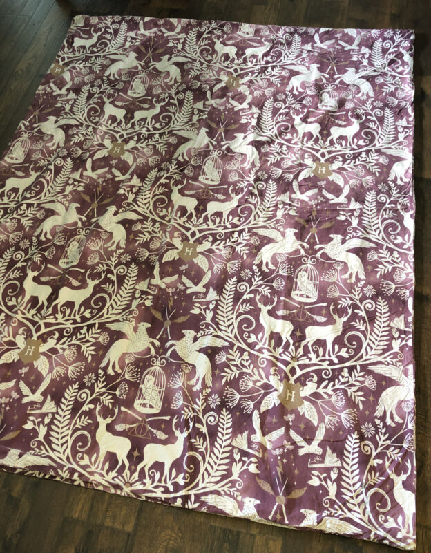 HARRY POTTER Patronus Damask TWIN Duvet Cover ~Mythical Stags Hippogriffs Owls