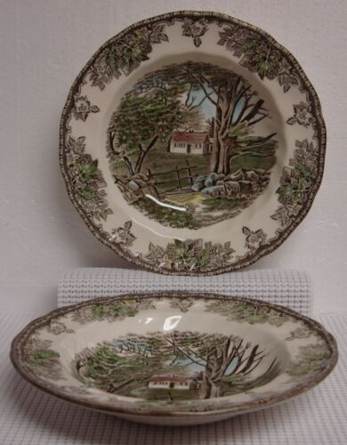 Johnson Brother FRIENDLY VILLAGE Rim Soup Bowl GREAT More Available ENGLAND 1883