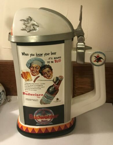 2006 Anheuser Busch Budweiser Today Membership Stein with Certificate