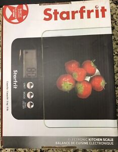 Electronic Kitchen Scale, Glass Top-Starfrit