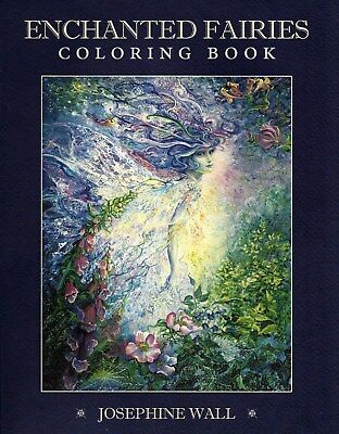 ENCHANTED FAIRIES COLORING BOOK Josephine Wall faery faerie fairy tale color