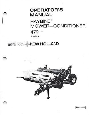 New Holland 479 Discbine Mower-conditioner Operators Manual 42047914