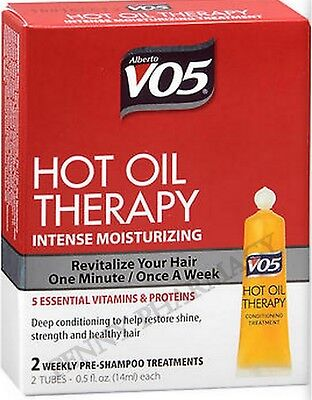 VO5 Hot Oil Therapy - Moisturizing Once Weekly Treatment 2 ct (1 box )