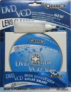 Laser Lens Cleaning Cleaner Disc DVD DVD ROM VCD CD Player Wet Dry Kit New