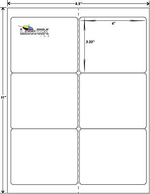 Laserinkjet Shipping Labels - 4 X 3.3 - 6 Per Sheet-200 Sheets-1200 Labels