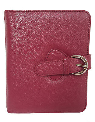 Franklin Covey Leather Ava Binder Classic 7.5x9.5x1.2-inches Plum