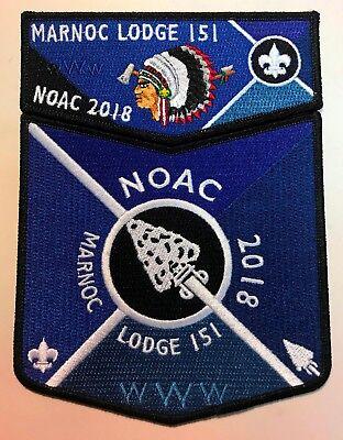 MARNOC OA LODGE 151 BSA GREAT TRAIL OHIO FLAP 2018 NOAC 2-PATCH BLACK 230 MADE!!