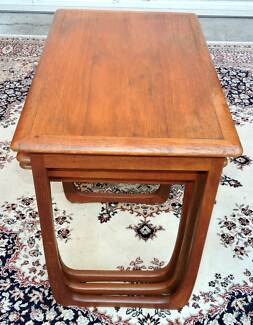 Mid Century Danish Style Parker Nest of 3 Tables