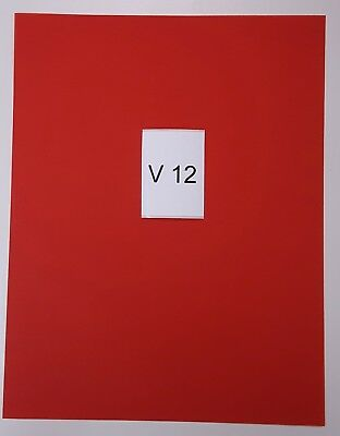 RED VELLUM PAPER - 25 Sheets  - 8.5