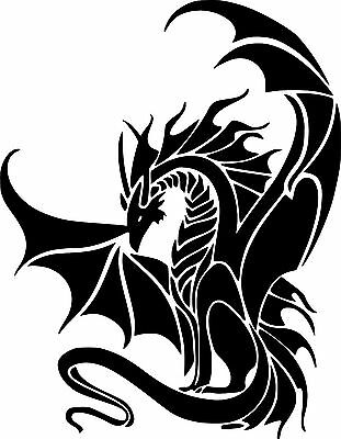 - Dragon Mythical Creature Graphic Art Decal Car Wall Laptop Bike Vinyl Sticker 6