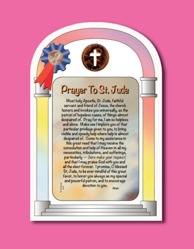 """Prayer To St. Jude"" w/ Cross Penny - sku# 675"