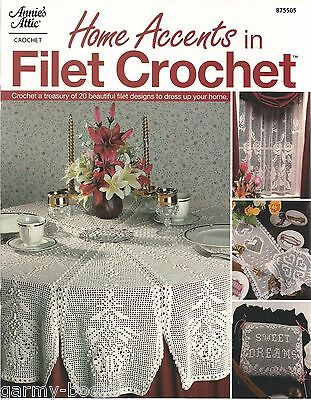 - Home Accents in Filet Crochet Instruction Patterns Annie's Attic 875505 NEW