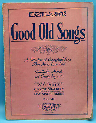Haviland's Good Old Songs - Sheet Music Book