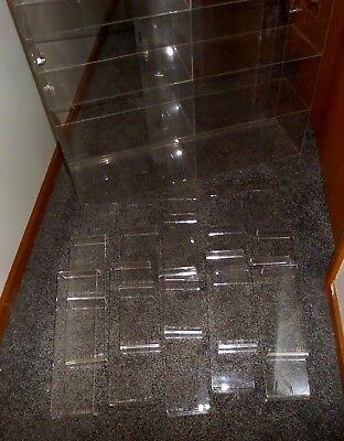 Plastic Acrylic Case Shelves Sliding Back Door 32x32x9 15 Acrylic 2 Risers