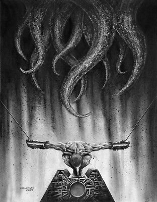 Warrior slave - monster with tentacles - sci-fi horror illustration - Halloween](Horror Halloween Drawings)