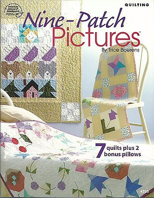 Nine-Patch Pictures Quilting Instruction Patterns Cat Sailboat Bear Book ASN NEW