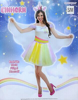 Einhorn Regenbogen Kostüm Kleid Cosplay Verkleidung Fasching Damen - Regenbogen Einhorn Kostüm
