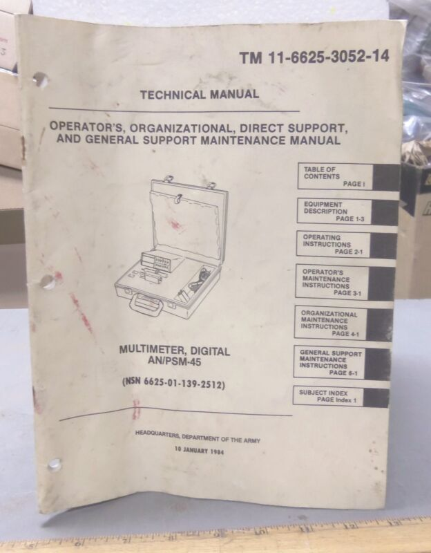 Technical Manual  for the AN/PSM-45 Digital Multimeter