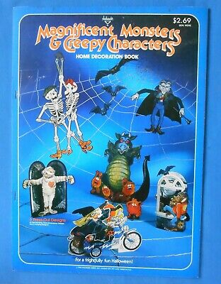 Vintage Halloween Hanging Decorations 1980  6 designs witch, skeletons - Used Halloween Decorations