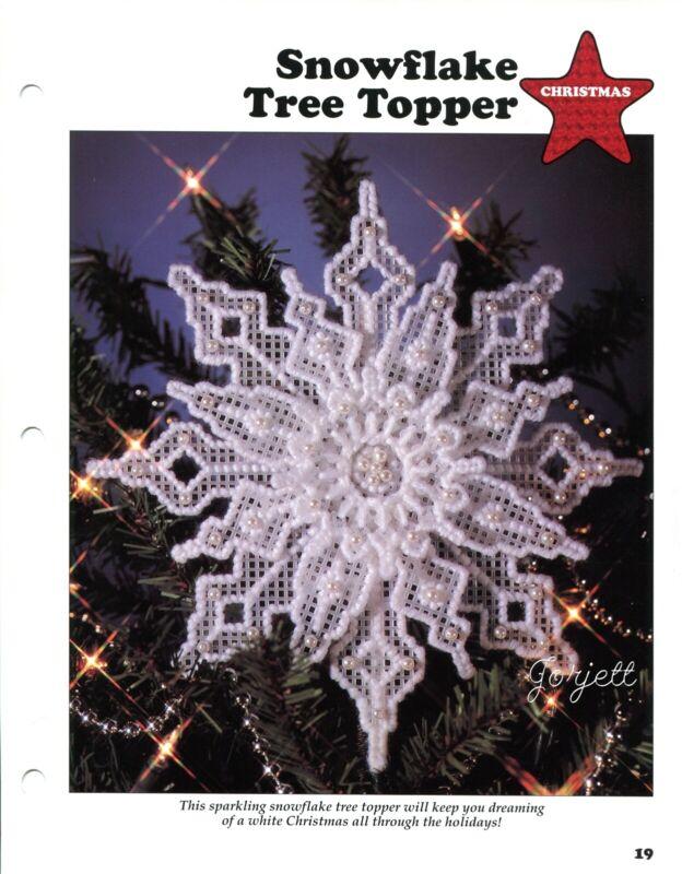 Snowflake Tree Topper & Snowflake Basket plastic canvas pattern leaflet