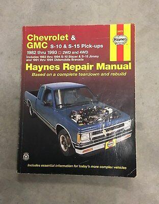 Chevrolet GMC 1982 thru 1993 S-10 Pick Ups Haynes Repair Manual 24070 Blazer