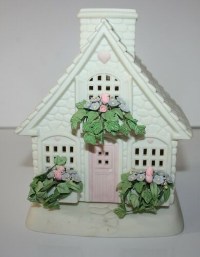 Dept 56 Springtime Cottage House Candle Holder Home Decor