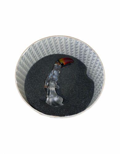 Swarovski Crystal Figurine Toucan Bird 7621NR000006 Colored Beak Retired COA MIB