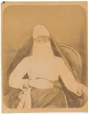 Albumin - Frau in Tracht Ägypten - 1890er