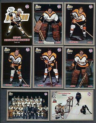 1974-75 NAHL Binghamton Broome Dusters Team Set of 24 hockey cards Bloomfield - Broom Hockey