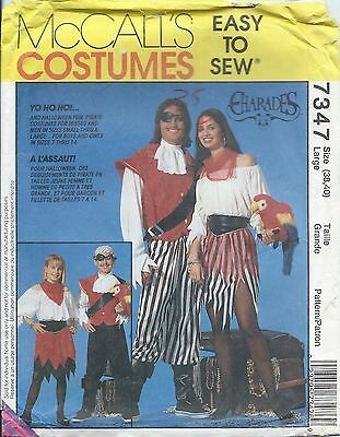 Pirate Halloween Costume Pattern (McCall's 7347 Halloween Costume Pattern PIRATE SEA WENCH Charades Adult Lg)