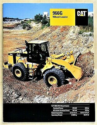 Original 1999 Caterpillar 966g 25 Ton Wheel Loader Brochure 24 Pages T966