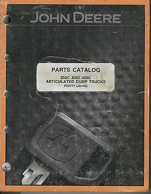 John Deere Parts Catalog - 350c And 400c Articulated Dump Trucks