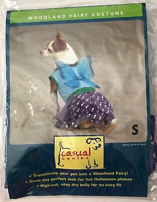 Woodland Fairy Halloween Dog Costume Size Small by Casual Canine New in Package (Fairy Halloween Costumes For Dogs)
