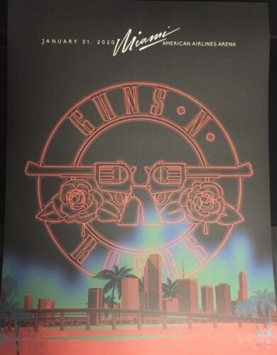 GUNS N ROSES SUPERBOWL MIAMI EVENT  AMERICAN AIRLINES ARENA POSTER 119/250