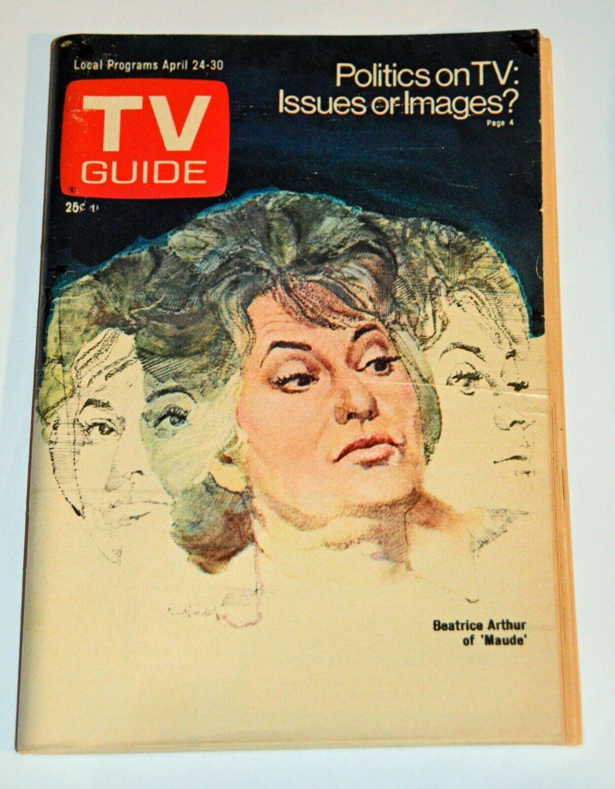 BEA ARTHUR As MAUDE JACQUES COUSTEAU - 1976 NEW YORK METRO TV Guide EXC - $4.25
