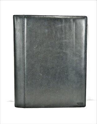 Tumi Black Leather Folding Leather Portfolio