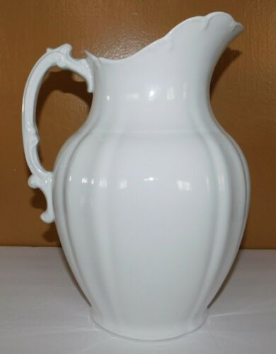 Vintage Alfred Meakin Royal Ironstone China White Pitcher Ewer England