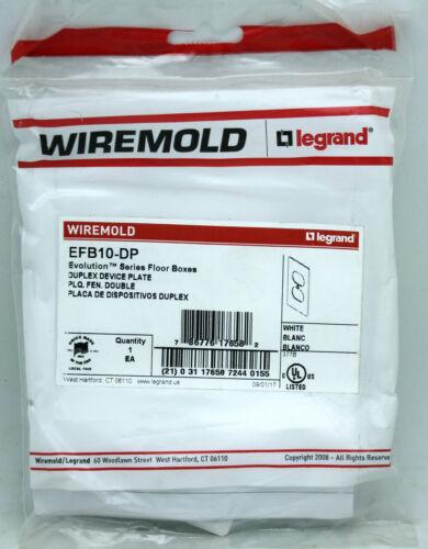 Wiremold EFB10-DP Evolution Series Duplex Device Plate - White