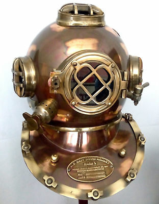 Vintage Divers Diving Helmet Full Size Scuba Antique US Navy Mark V Deep helmet