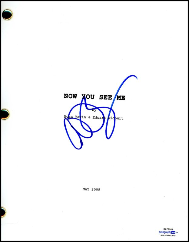 """Conan O'Brien """"Now You See Me"""" AUTOGRAPH Signed Complete Script Screenplay ACOA"""