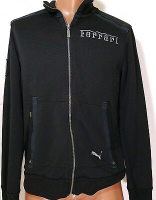 Puma Ferrari mens Zip Up Track Jacket black size medium M med
