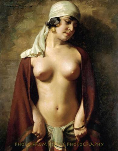 "Oriental Nude Woman with Scarf 8.5x11"" Photo Print Hans Hassenteufel Fine Art"