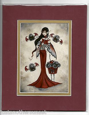 Amy Brown Matted Print Fairy Vampire Bite Me Halloween Kitchen Cupcake Candy RED (Halloween Red Cupcakes)